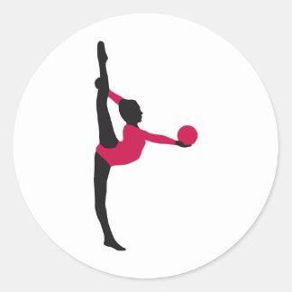 ball gymnastics runder aufkleber