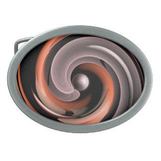 Ball in a Spiral Ovale Gürtelschnalle