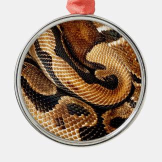 Ball-Pythonschlange ist ein Kunstwerk Silbernes Ornament