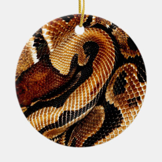 Ball-Pythonschlange Rundes Keramik Ornament