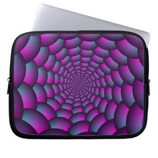 Ball-Spirale in rosa Blauem und lila Laptop Sleeve