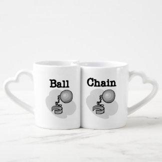 Ball-und Ketten-Liebhaber-Tassen Partnertasse