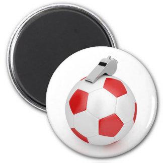 Ball und Pfeife Runder Magnet 5,1 Cm