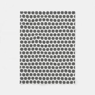 Bälle Garn-{des schwarzen} Muster-Druck-Handwerks Fleecedecke