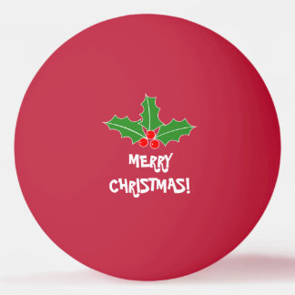 Bälle pong Klingeln der frohen Weihnachten für Ping-Pong Ball