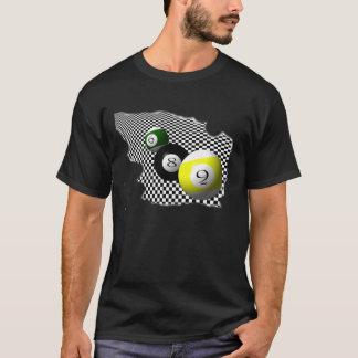 Bällepsychobabble-Spritzen des Pool-3D T-Shirt