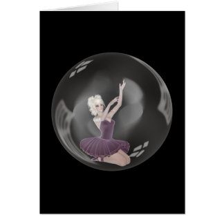 Ballerina 2 der Blasen-3D Karte