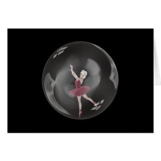 Ballerina 3 der Blasen-3D Karte