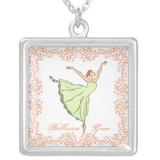 Ballerina-Anmut Versilberte Kette