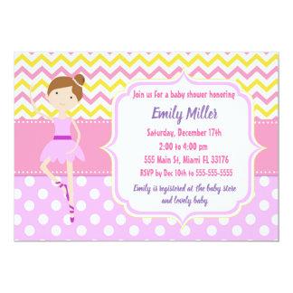 Ballerina-Babyparty-Einladung Karte