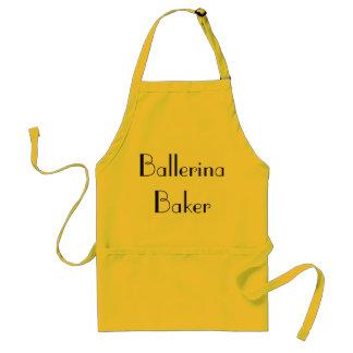Ballerina-Bäcker-schrullige gelbe u. schwarze Schürze