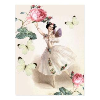 Ballerina-Fee Postkarte