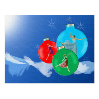 Ballerina-Feiertags-Postkarte Postkarte