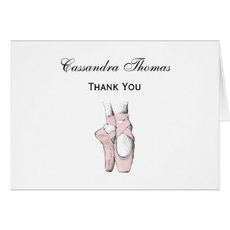 Ballerina-Füße auf Pointe #1 lt Pink Karte