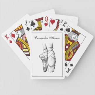 Ballerina-Füße auf Pointe #1 Spielkarten