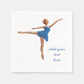 Ballerina im Arabeske-kundengerechten Text Papierservietten