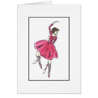 Ballerina im Rosa Karte
