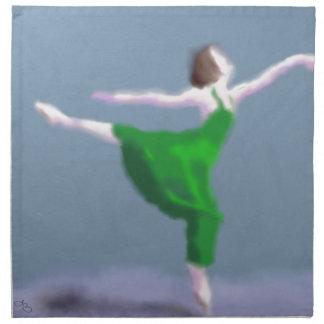 Ballerina in der grünen Kunst Stoffserviette