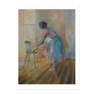 Ballerina in der Wasserfarbe-Postkarte