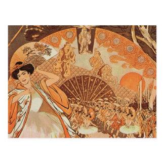 Ballerina-Japaner Steinlen Reve französischer Postkarte