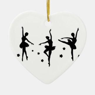 Ballerina Keramik Herz-Ornament