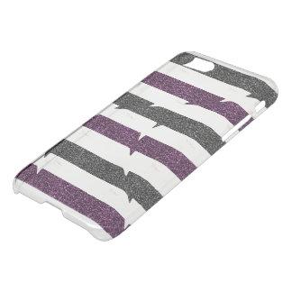 Ballerina-Kontur, Glitzer Stripes Monogramm iPhone 8/7 Hülle