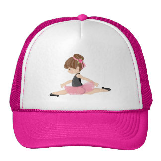 Ballerina-Liebhaber-Rosa Trucker Kappe
