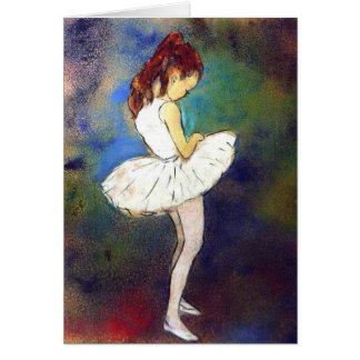 Ballerina-Mädchen Karte