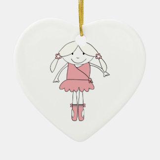 Ballerina-Mädchen Keramik Ornament