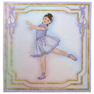 Ballerina-Mädchen-Pastell Stoffserviette