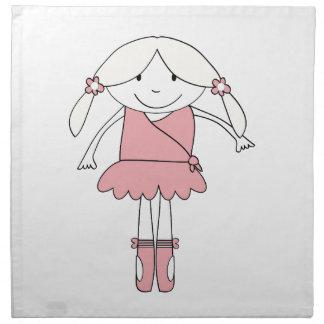 Ballerina-Mädchen Serviette
