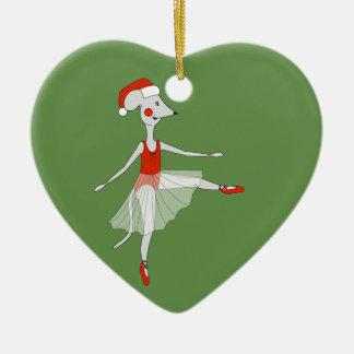 Ballerina-Maus - WeihnachtsSpecial Keramik Ornament