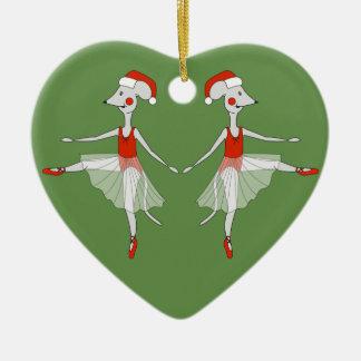 Ballerina-Mäuse - WeihnachtsSpecial Keramik Ornament
