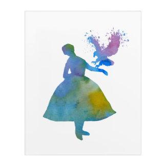 Ballerina mit Adler Acryl Wandkunst