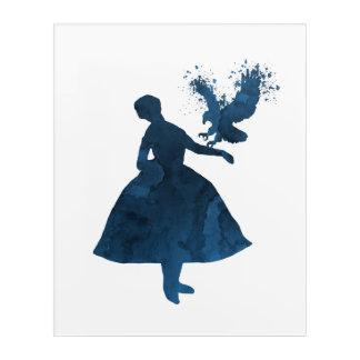 Ballerina mit Adler Acryldruck