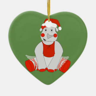 Ballerina-Nashorn - WeihnachtsSpecial Keramik Ornament