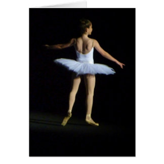 Ballerina Notecard Karte