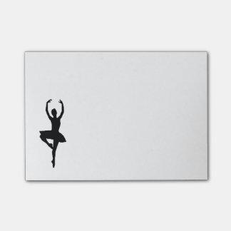 Ballerina-Post-Itanmerkungen Post-it Klebezettel