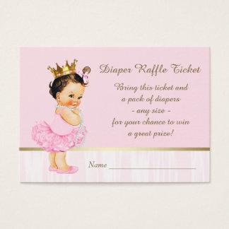 Ballerina-Prinzessin Diaper Raffle Ticket
