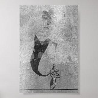 Ballerina-rotes Poster