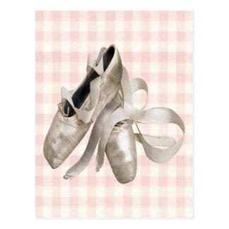 Ballerina-Schuhe Postkarte