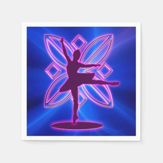 Ballerina-Silhouettetanzen Servietten