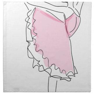 Ballerina-Skizze Stoffserviette