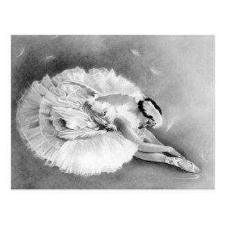 Ballerina-sterbende Schwan-Postkarte Postkarte
