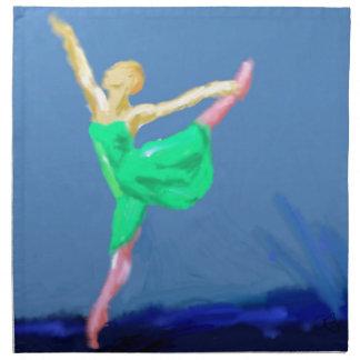 Ballerina-Tanz-Kunst Serviette