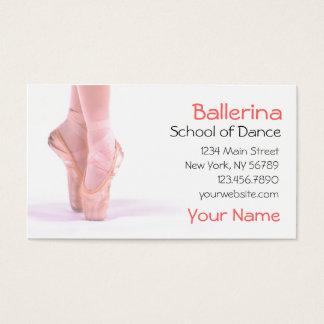 Ballerina-Tanz-Lehrer Visitenkarte