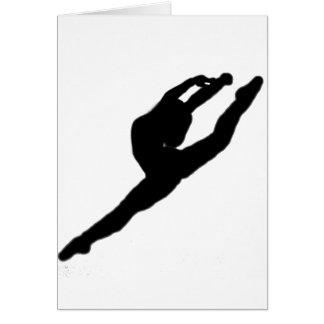 Ballerina-Tänzer-Anmerkungs-Karte Karte