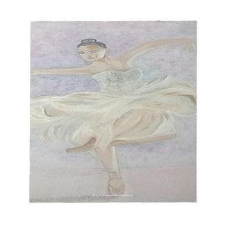 Ballerina-Tänzer Notizblock