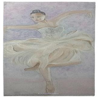 Ballerina-Tänzer Stoffserviette