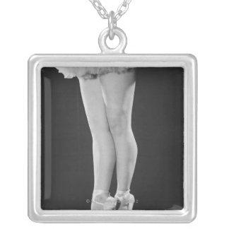 Ballerina Versilberte Kette